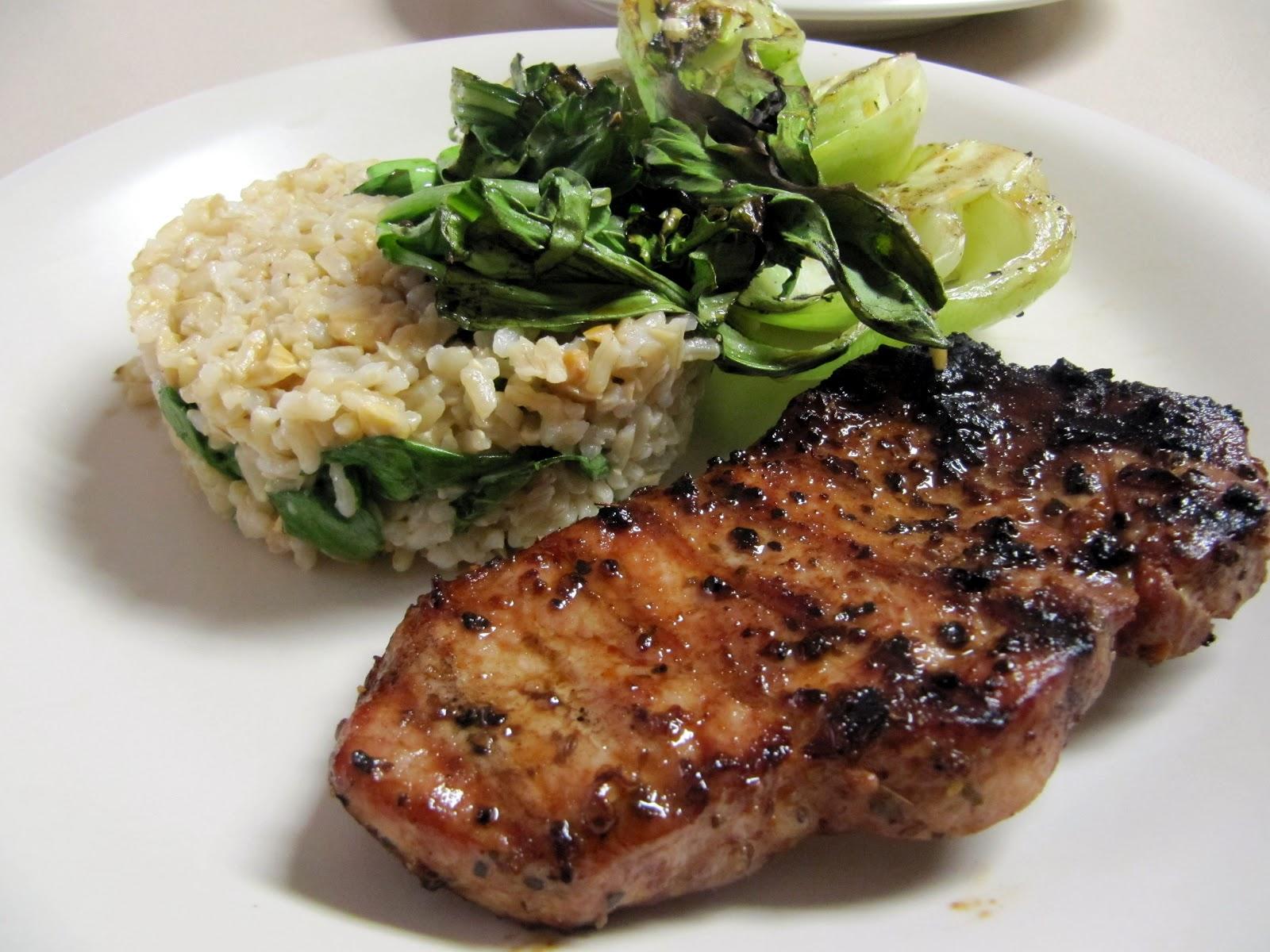 Pork chop bok choy recipe