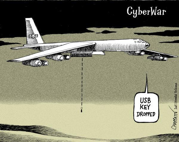 Image result for cyberwar CARTOON