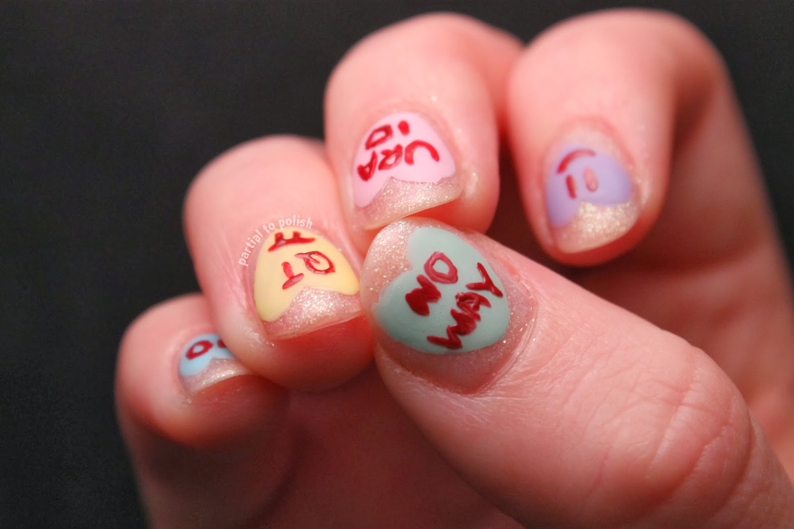 Valentine's/anti-Valentine's Day Nail Art