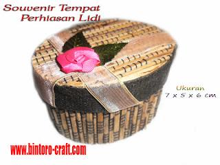 Souvenir Tempat Perhiasan Lidi