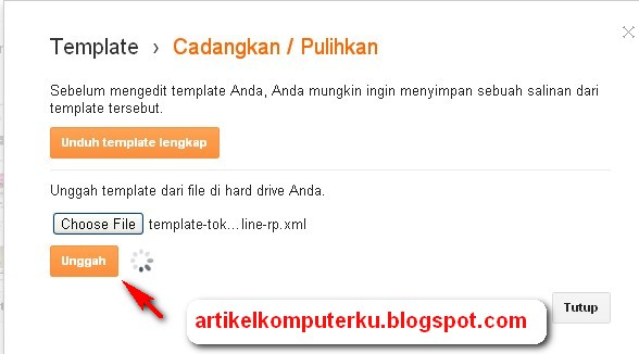 update template blogspot