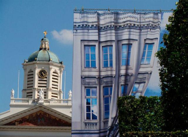 arte em fachada de prédio
