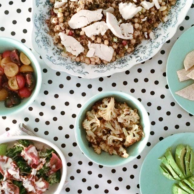 An easy mezze platter