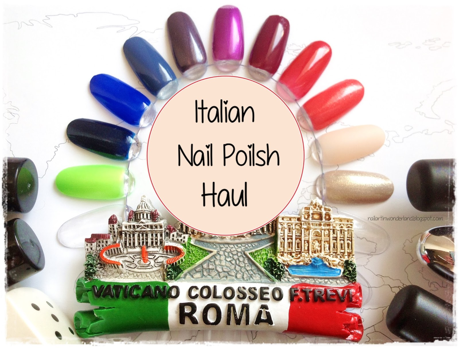 Nail Art in Wonderland: İtalya Oje Alışverişi / Italian Nail Polish Haul