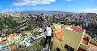 anuncio ciclista azoteas las palmas de gran canaria, GoPro