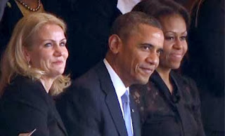 Helle Thorning-Schmidt, Barack Obama and Michelle Obama