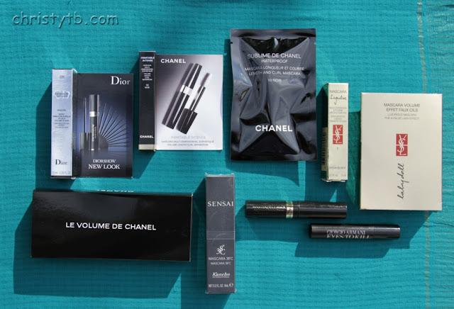 Пробники туши для ресниц: 12 экземпляров от Chanel, Dior, YSL, Giorgio Armani, Kanebo, Max Factor, Lancome, Estee Lauder + вопрос на смекалку