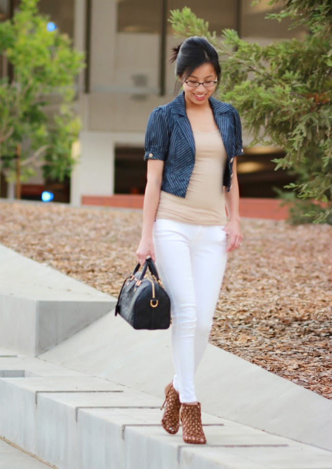 what to wear with white pants denim jeans idea outfit trend