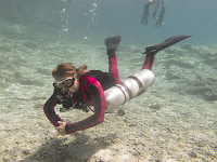 scuba Diva on sidemount