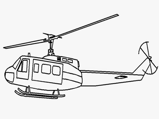 Army Helicopters Coloring Pages
