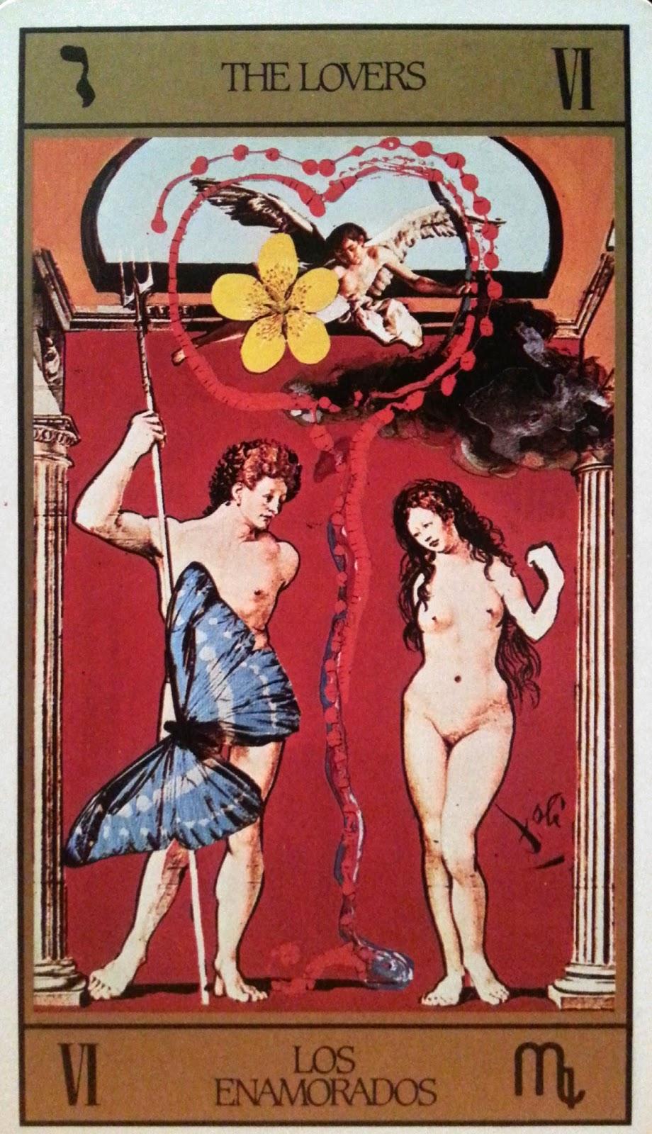 Los Enamorados. Tarot de Dali