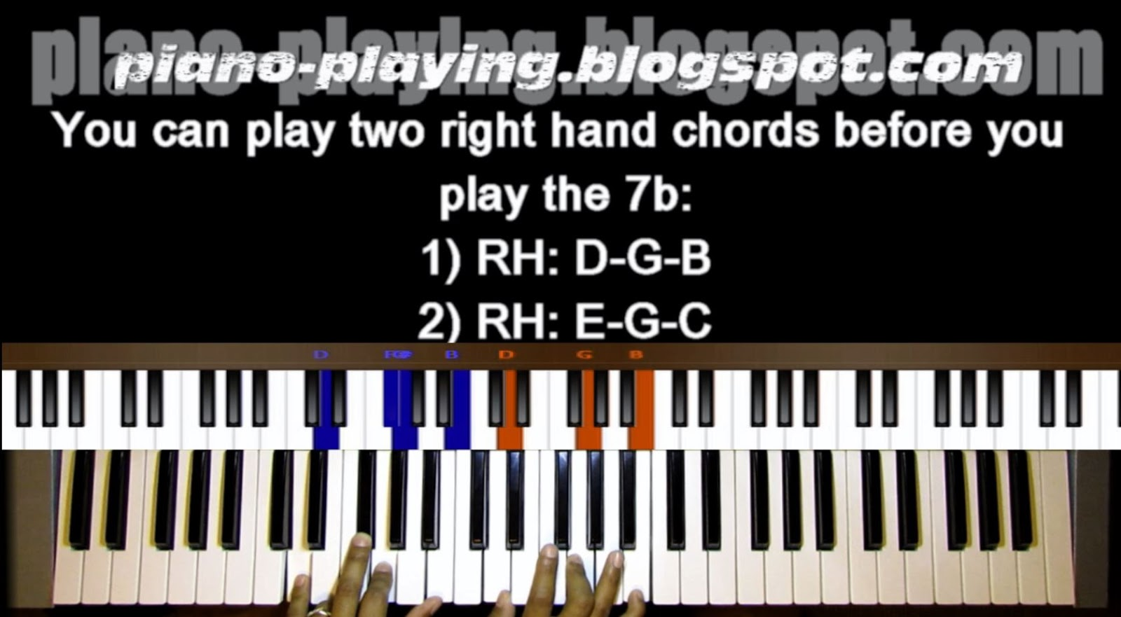 Piano playing piano tutorial for oh holy night in the key of a the left hand chord should not be played while the two chords are being played hexwebz Gallery