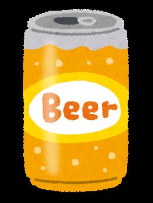 缶ビールのイラスト(350ml缶)