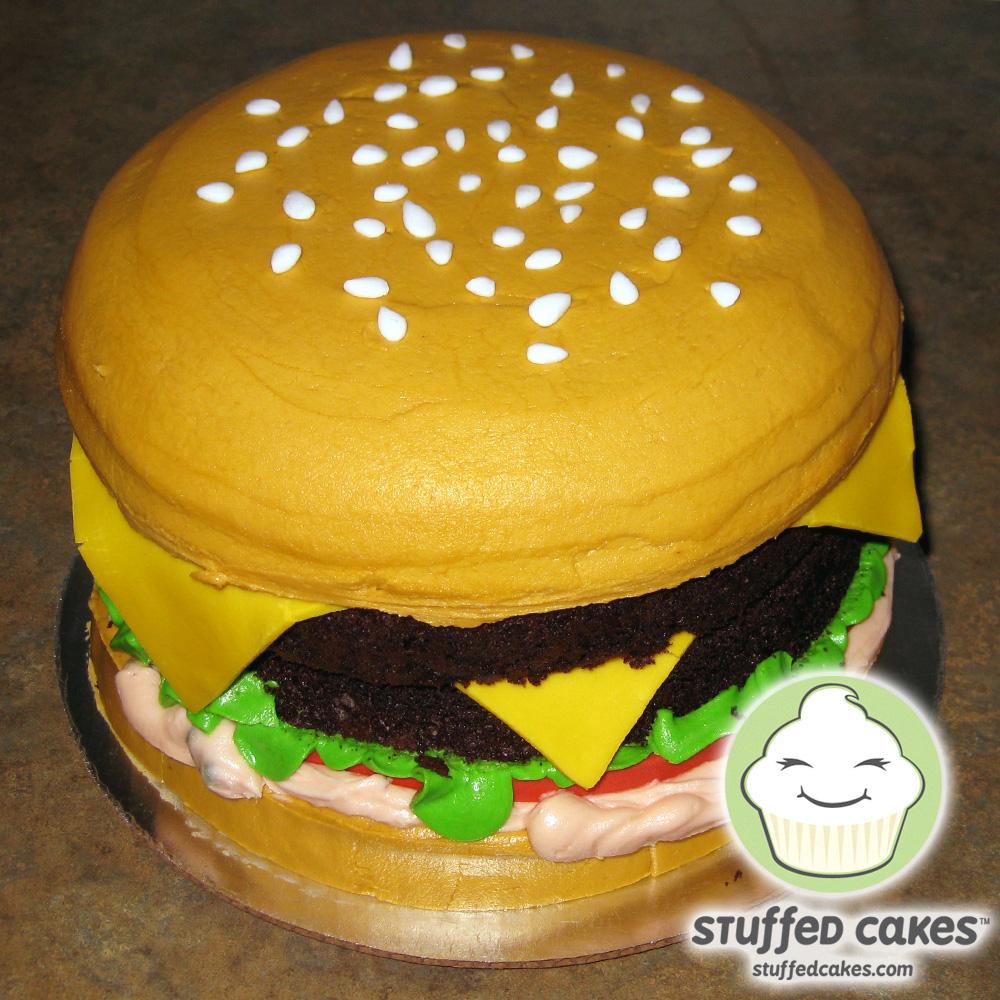 how to make a fondant burger