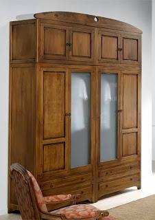 armario 4 pertas, armario rustico, armario con altillos