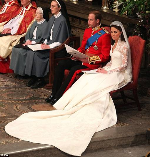 Foto Suasana Pernikahan Pangeran William dan Kate Middleton di Westminster Abbey