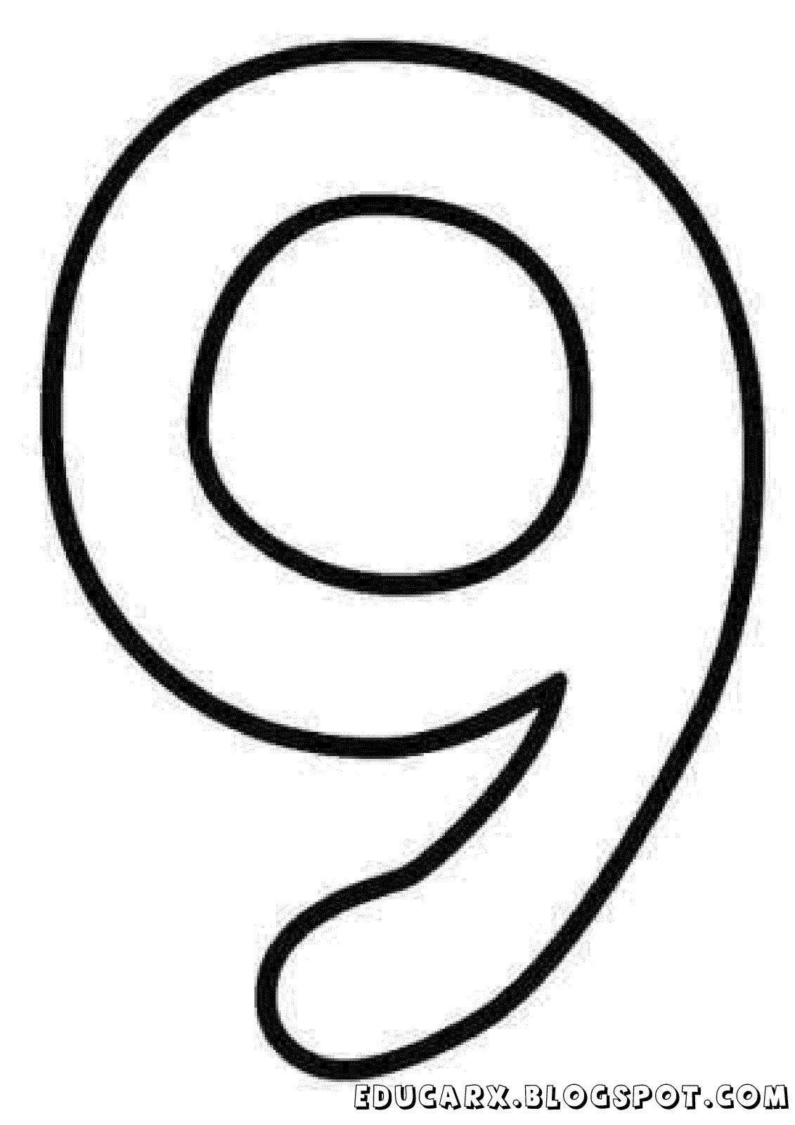 Molde do numero 9