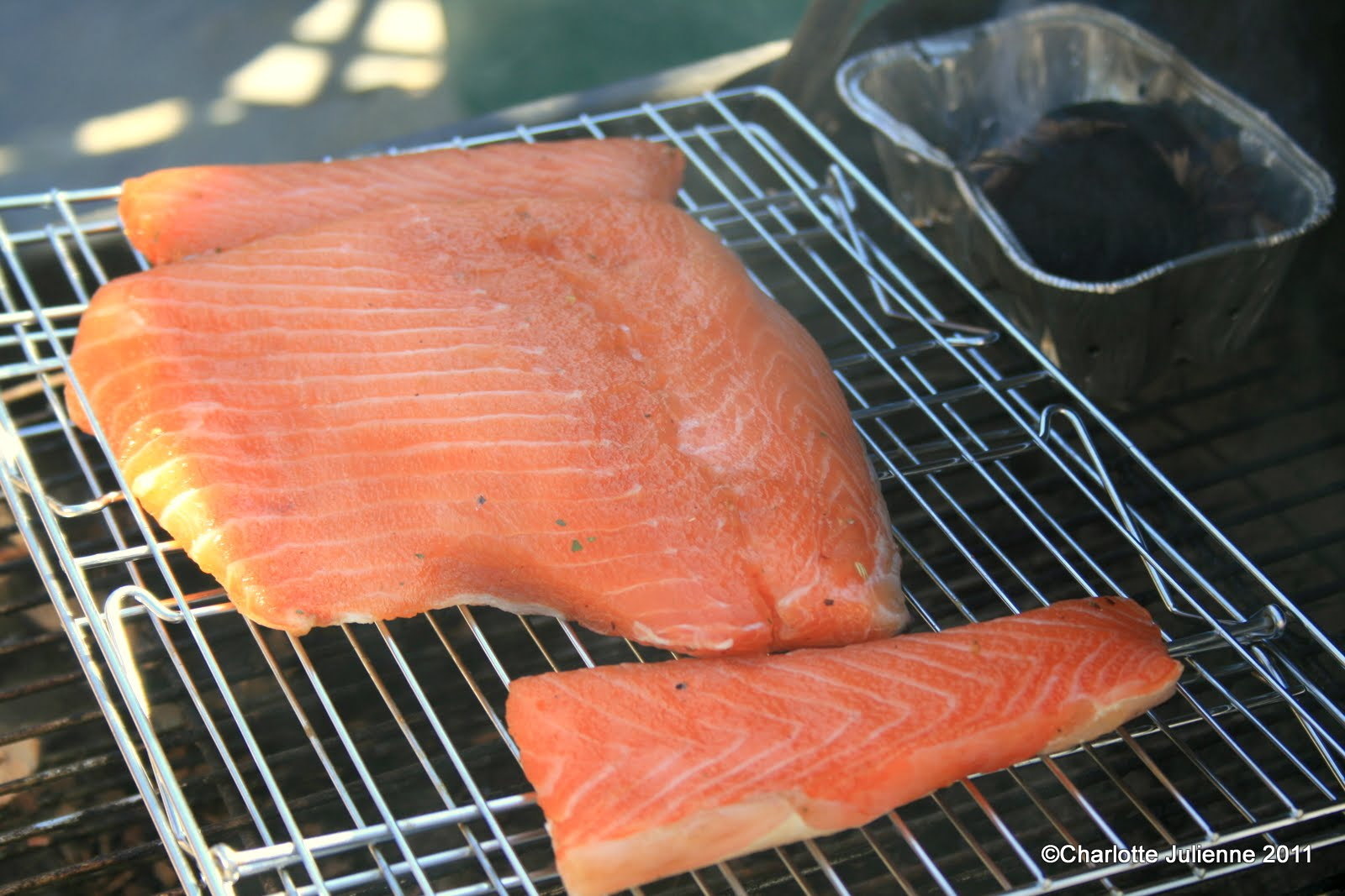 Best Wood Chips Smoking Salmon : Hours we use an old bbq and used a tin with charcoal wood chips