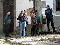 Algunos figurantes de la serie Luna el misterio de Calenda en Candelario Salamanca