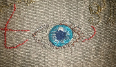 eye embroidery
