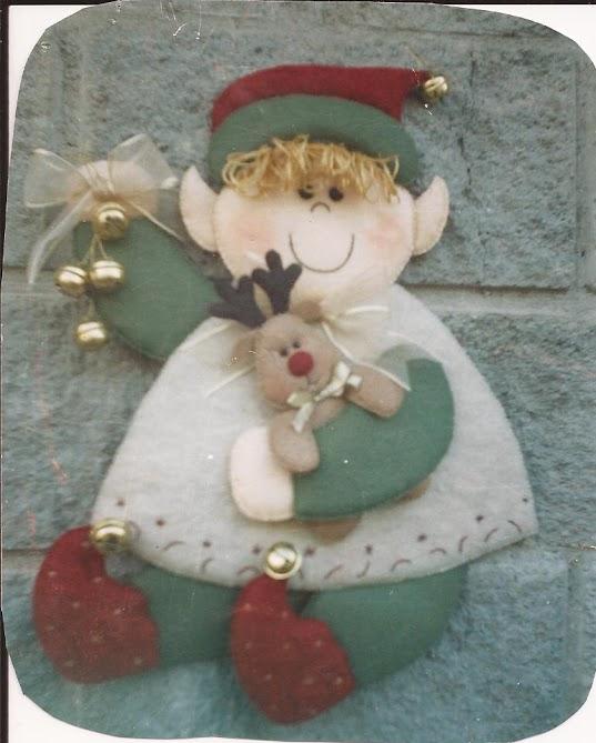 Figuras De Navidad En Fieltro Molde's