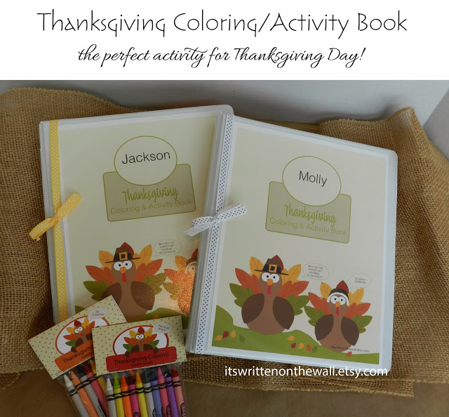 Fun for the kids on Thanksgiving-Coloring Book/Crayons