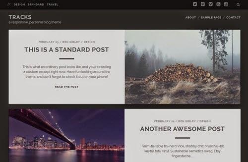Tracks Free Photography WordPress Theme