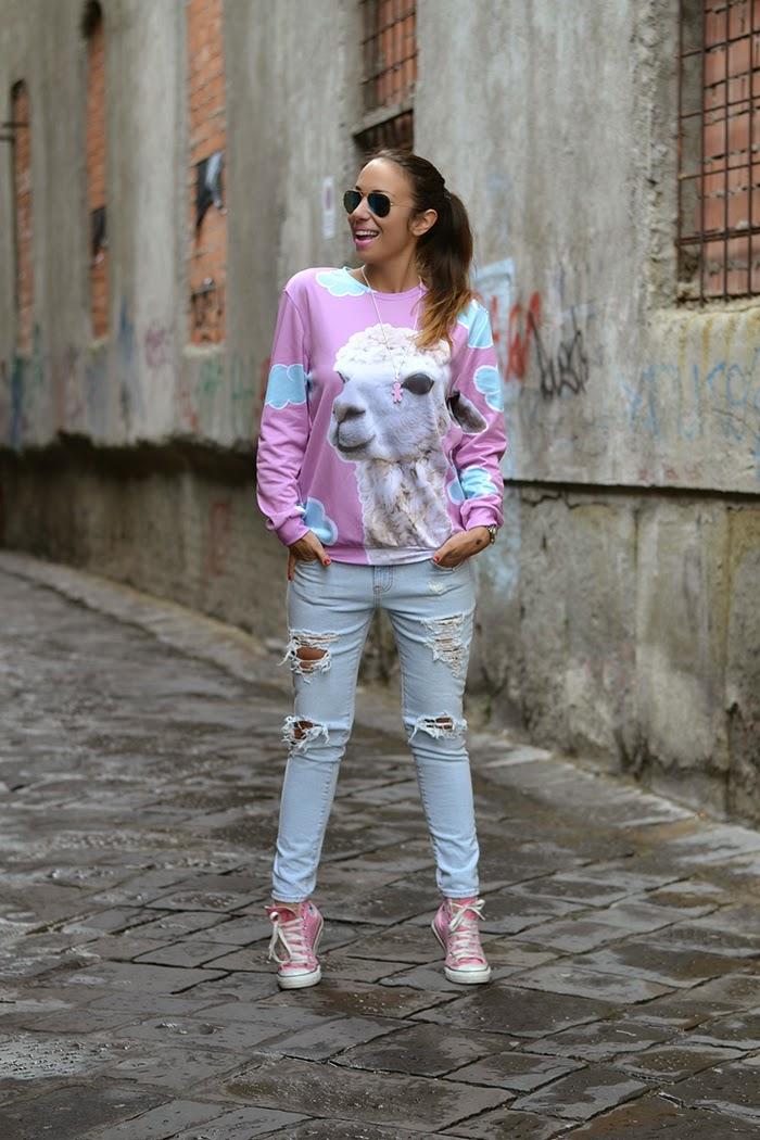 jeans converse rosa