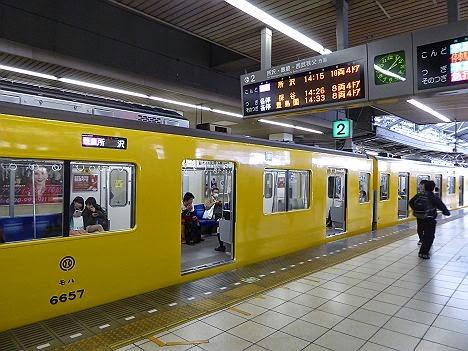快速急行 所沢行き 黄色い6000系6157F