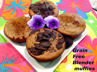 Grain Free Peanut Butter Blender Muffins from Gluten Free A-Z
