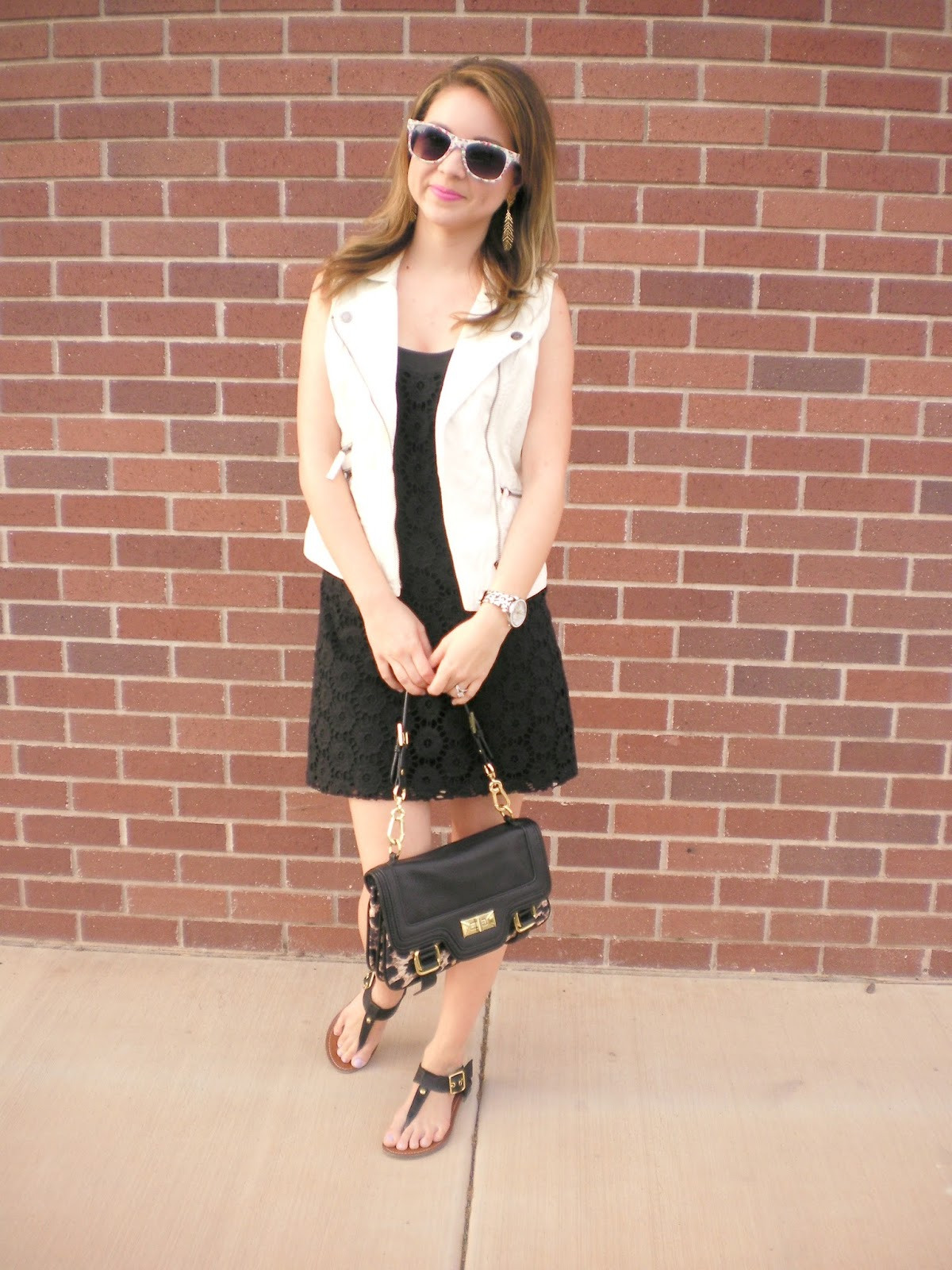 Lace, Vest, rachel zoe, leather, aeropostale