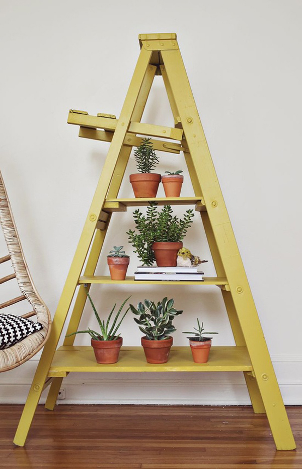 on the brightside...: inspired by: A-frame shelves for plants