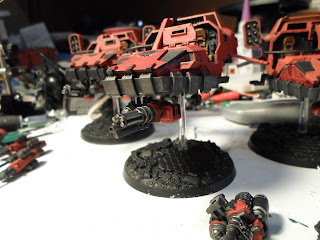 Blood Raven Land speeder equipped with an assault canon