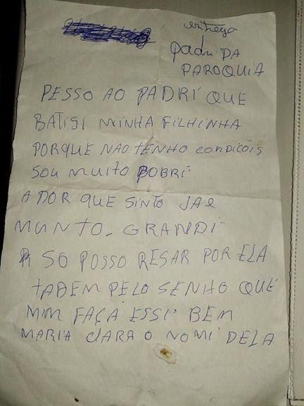 Mulher abandona recém-nascido dentro de banheiro de Casa Paroquial em Quixeramobim-CE