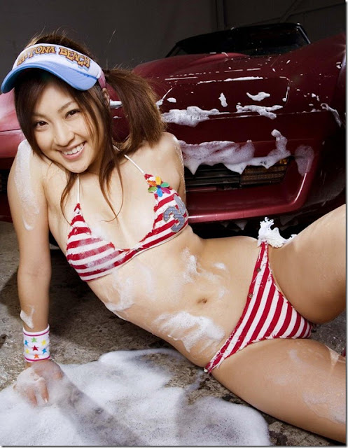 girl sport car, hot cars model, korean model, girl wash the car, sexy model, girl n cars