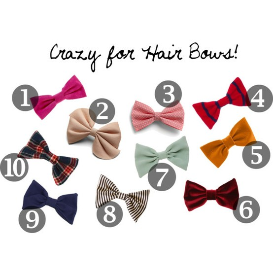 Crazy Hair Bows http://popofstyle.com/uncategorized/crazy-for-hair-bows/
