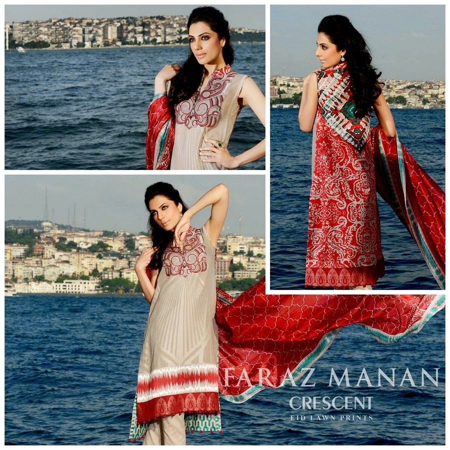 Crescent Eid Lawn Collection 2014