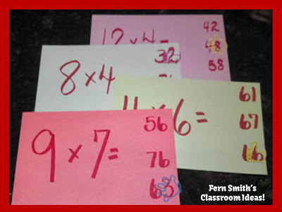 Picture of Fern Smith's Fun Multiplication Self-Checking Center Game for the Fearsome 15