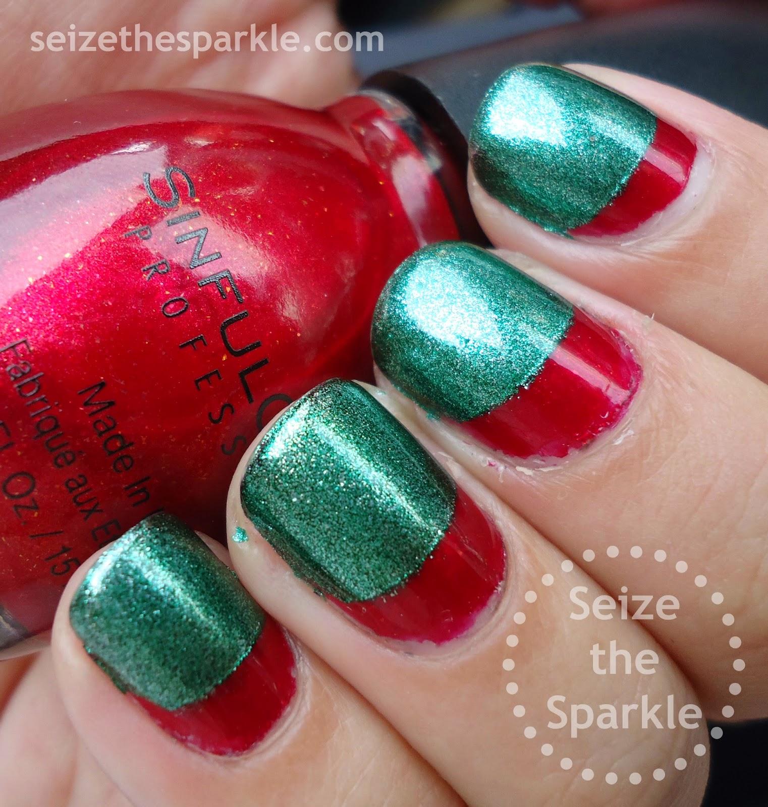 Christmas Ruffian Manicure