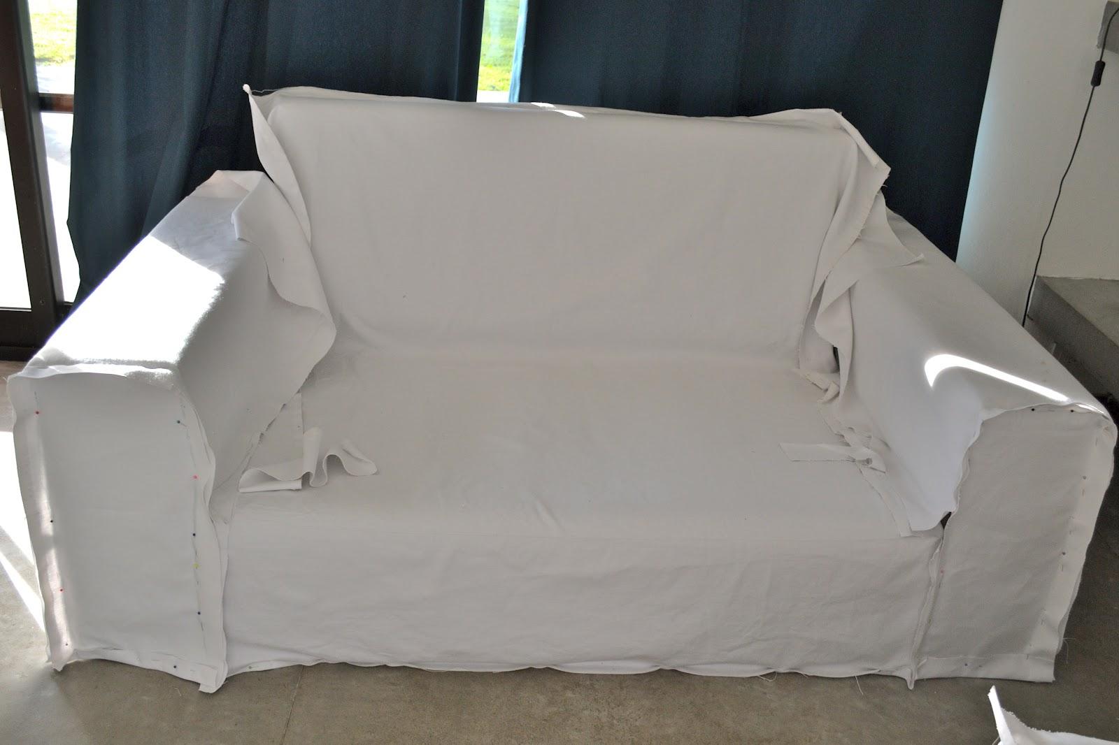 Funda blanca para mi sill n casi tutorial parte 2 lote 93 - Fundas elasticas para sillones ...