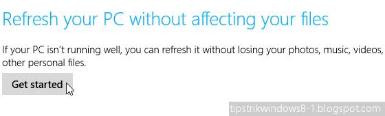 refresh windows 8.1