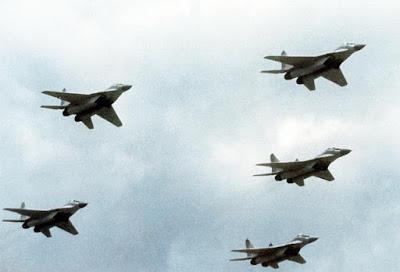 Caças Mig-29 visitando a Finlândia.
