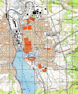 карта Лысьвы