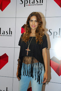 Esha Gupta in Casuals and Denim Jeans at Launch of Splash Store Mumbai