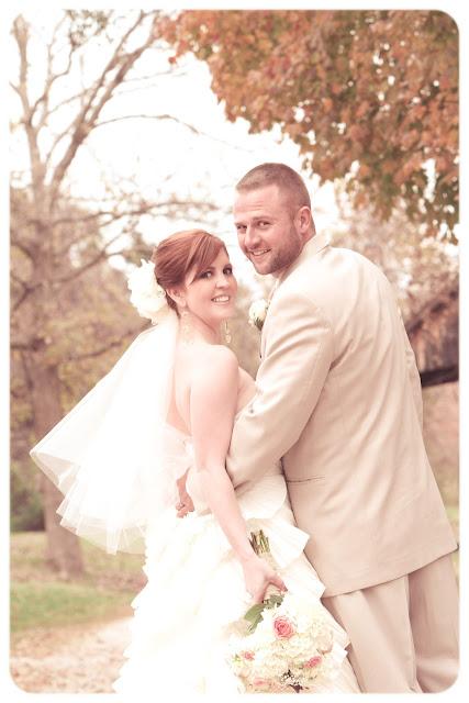 fall bride groom