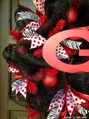 Georgia Deco Mesh Wreath