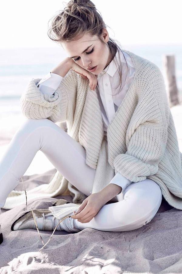 Sacos tejidos Paula Cahen D'Anvers otoño invierno 2015. Moda invierno 2015.