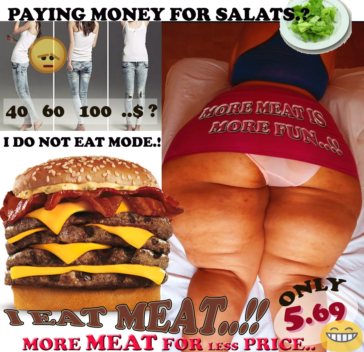 MORE MEAT FOR FUNNY PRICE.!!