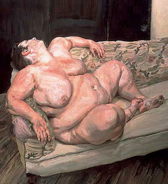 great art, oil painting by Lucian Freud