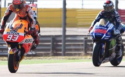 Video MotoGP Aragon, Lorenzo Menang, Marquez Gagal Finis